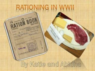 Rationing in WWII