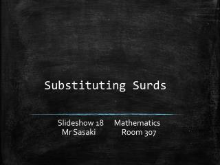 Substituting Surds