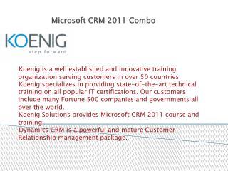 Microsoft Dynamics CRM 2011 Combo Training