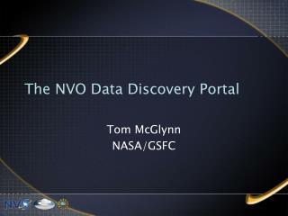 The NVO Data Discovery Portal