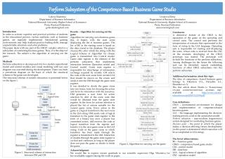Perform Subsystem of the  Competence-Based  Business Game Studio