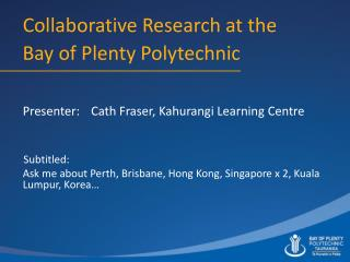 Collaborative Research at the