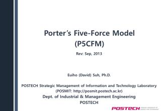 Porter's  Five-Force  Model (P5CFM)