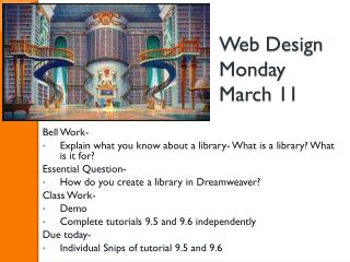 Web Design Monday March 11