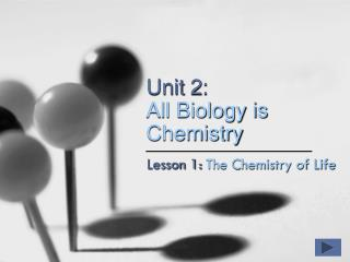 Unit 2: All Biology is Chemistry