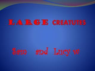 LARGE  C REATUTES