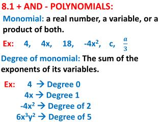 8.1 + AND - POLYNOMIALS: