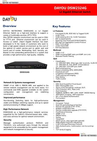 L2 Gigabit Ethernet  Switch