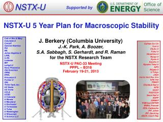 NSTX-U 5 Year Plan for Macroscopic Stability