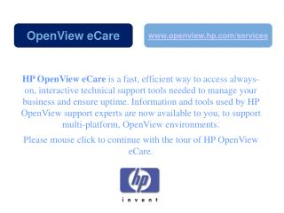 HP OpenView eCare is a fast