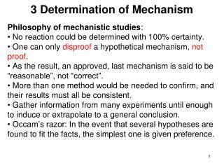 3 Determination of Mechanism
