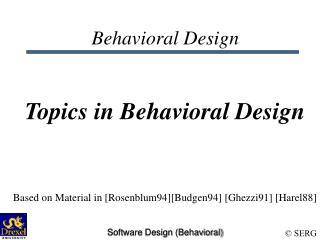 Behavioral Design