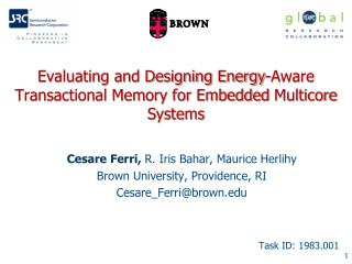 Evaluating and Designing Energy-Aware Transactional Memory for Embedded  Multicore  Systems