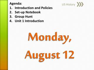 Monday, August 12