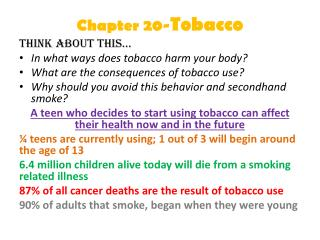 Chapter 20- Tobacco