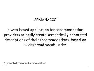 [1] semantically annotated accommodations