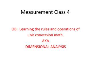 Measurement Class 4