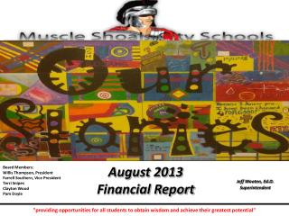 August 2013 Financial Report