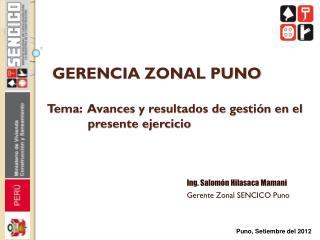 GERENCIA ZONAL PUNO