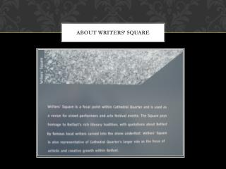 About Writers' Square
