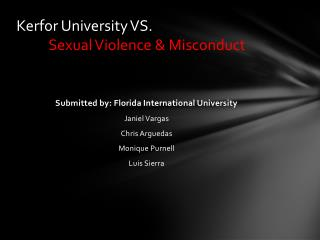 Kerfor  University VS.  Sexual Violence & Misconduct