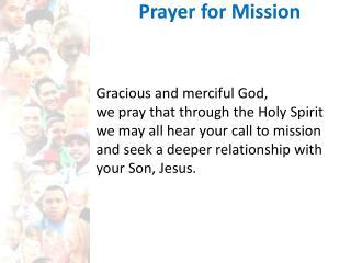 Prayer for Mission