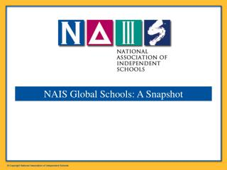 NAIS Global Schools: A Snapshot