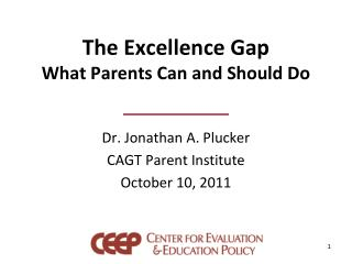 The Excellence Gap What Parents Can and Should Do