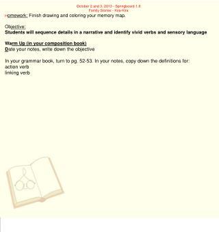 October 2 and 3, 2013 - Springboard 1.8 Family Stories - Kira-Kira