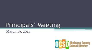 Principals' Meeting