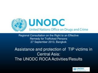 Regional Consultation on the Right to an Effective  Remedy for Trafficked Persons