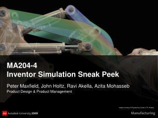 MA204-4 Inventor  Simulation  Sneak  Peek