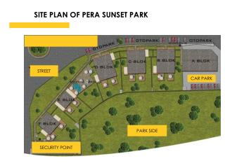 SITE PLAN OF PERA SUNSET PARK