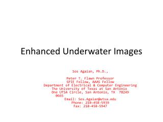 Enhanced Underwater Images