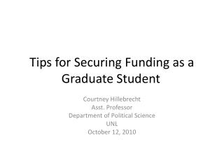 Tips for Securing Funding as a Graduate Student