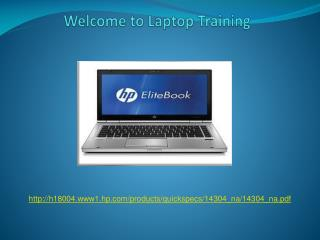 Welcome to Laptop Training