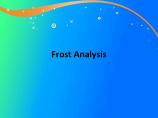 Frost Analysis