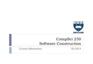 CompSci  230  Software Construction