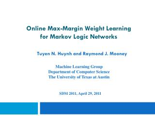 Online Max-Margin Weight Learning  for Markov Logic Networks