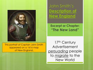 John Smith's  Description of New England