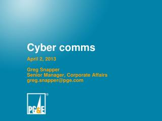 Cyber comms