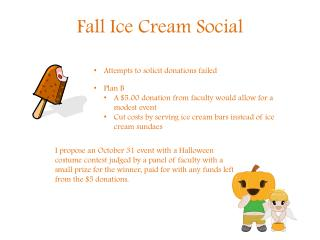 Fall Ice Cream Social