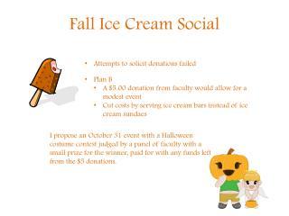 Fall Ice Cream Social