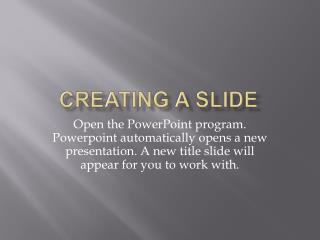 EXTRAORDINARY POWERPOINT