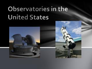 Observatories in the United States
