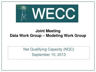 Joint Meeting Data Work Group � Modeling Work Group