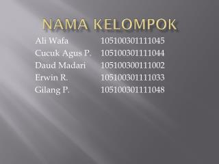 Nama Kelompok