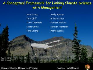 A Conceptual Framework for Linking Climate Science with Management