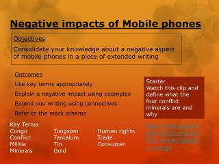 Negative impacts of Mobile  phones