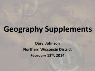 Geography Supplements